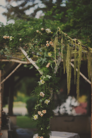 Chuppah With Moss and Rose Cover