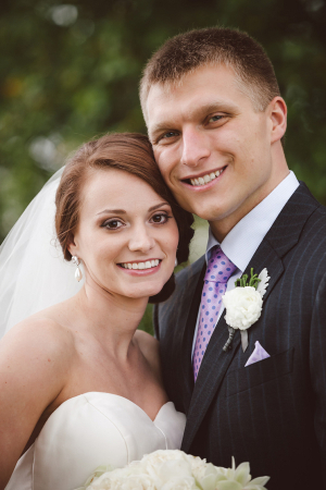 Classic Bride and Groom Portrait from Amelia and Dan