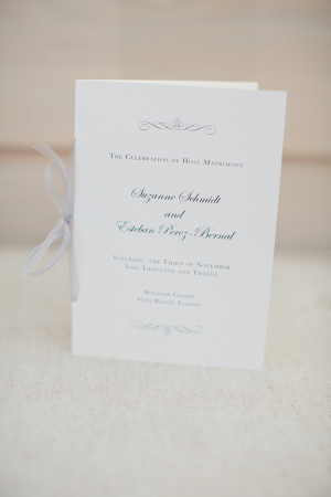 Classic Cream Wedding Program
