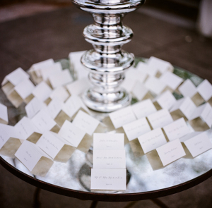 Classic Folded Reception Place Cards