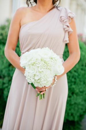 Classic White Hydrangea Bouquet