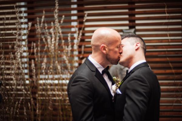 Commitment Ceremony Kiss