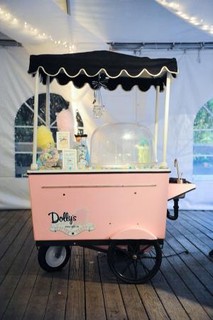 Cotton Candy Cart at Wedding