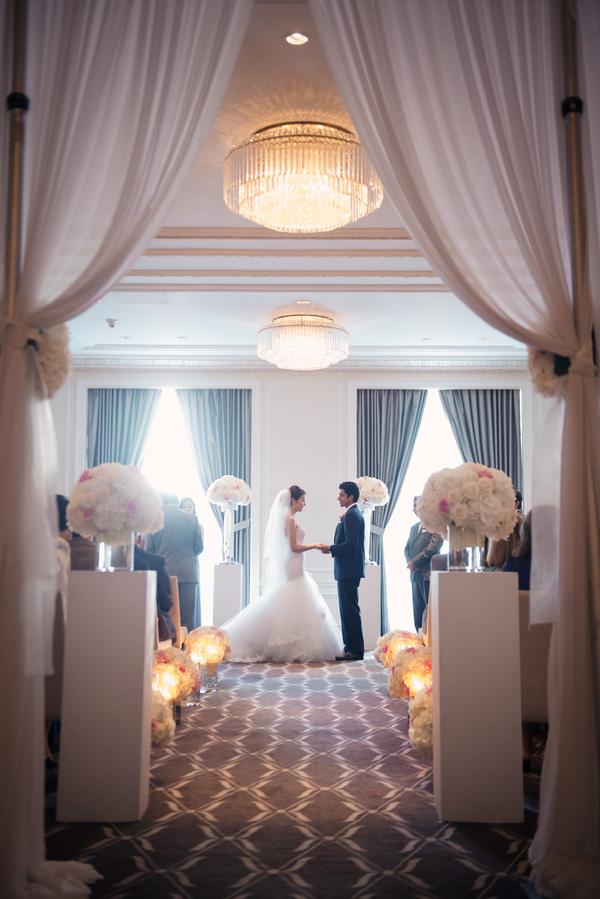 Curtain Wedding Ceremony Entrance