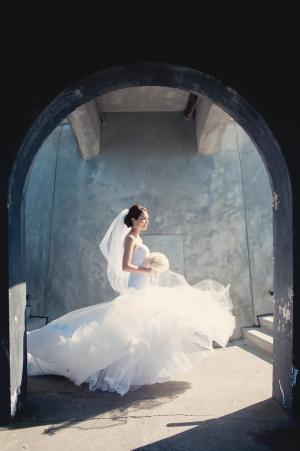 Dramatic Bridal Portrait Melissa Gidney