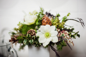 Earthy Cream and Green Flower Arrangement