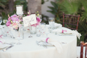 Elegant Pink and Lavender Reception Table