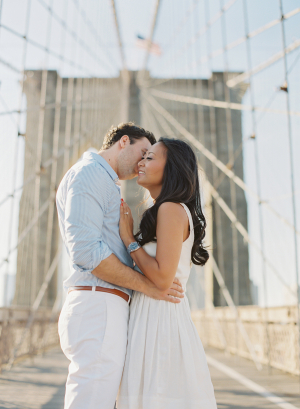 Engagement Session on Brooklyn Bridge