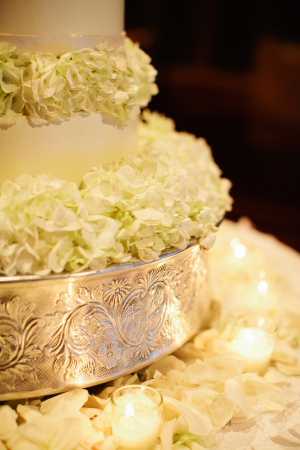 Engraved Silver Cake Stand