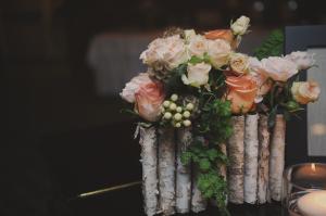 Folded Birchwood Vase Reception Decor