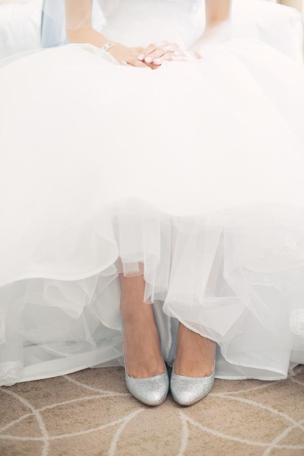 a5197c50e1b Glitter Silver Bridal Shoes - Elizabeth Anne Designs  The Wedding Blog