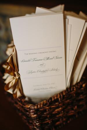 Gold and Cream Ceremony Programs