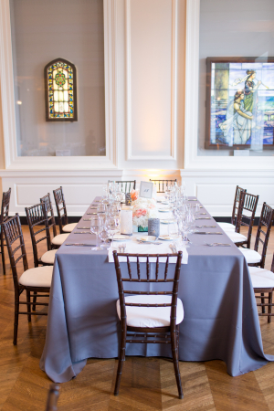 Gray Linen Tablecloths Reception Decor