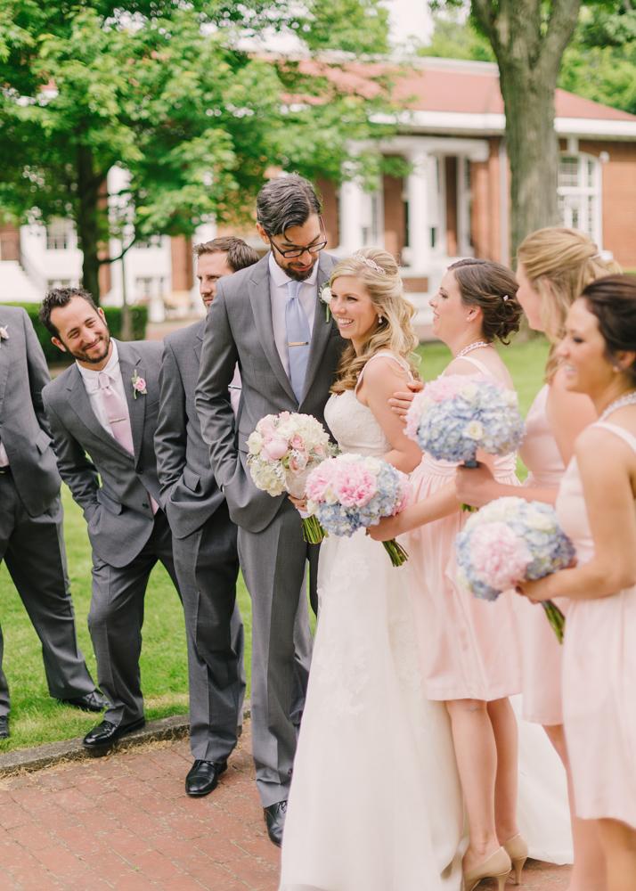 Gray And Pink Wedding Party Elizabeth Anne Designs The Wedding Blog
