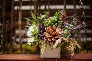 Greenery Arrangement With Bronze Succulents