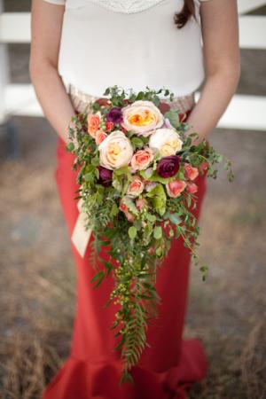 Greenery Cascade Bouquet