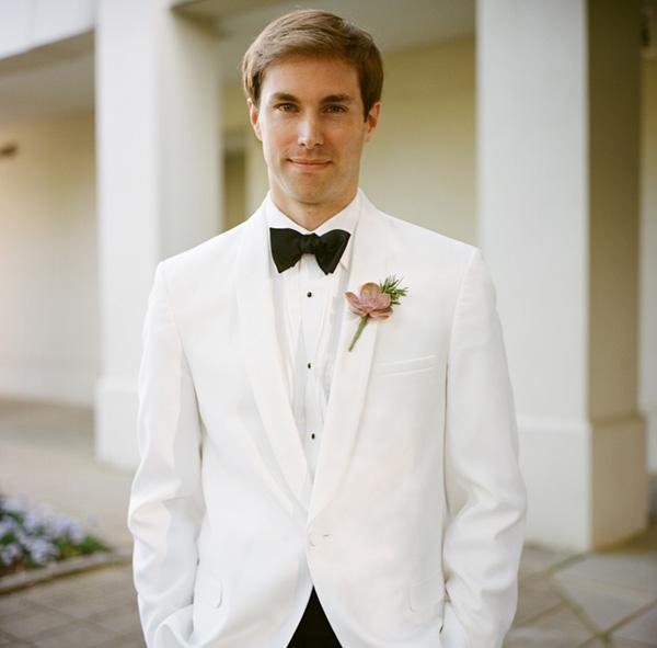 Groom in White Tux - Elizabeth Anne Designs: The Wedding Blog