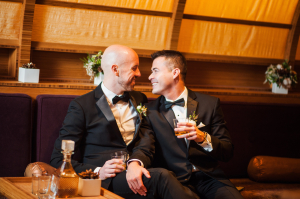 Grooms With Cocktails