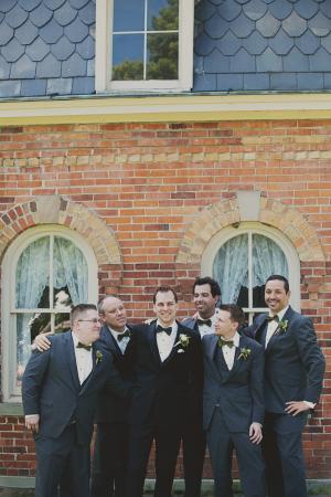 Groomsmen in Green Ties
