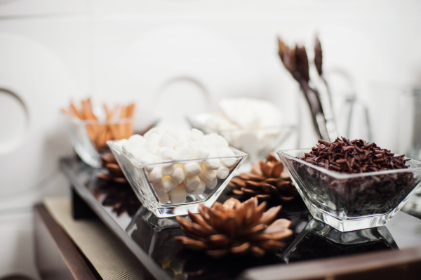 Hot Chocolate Bar Ingredients at Reception