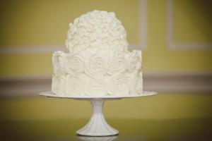 Hydrange and Rose Wedding Cake