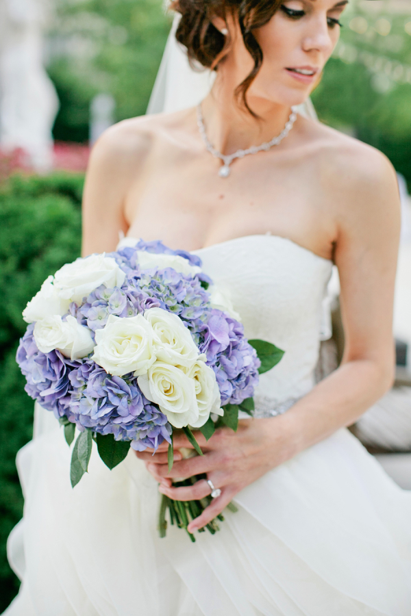 Hydrangea And Rose Bridal Bouquet
