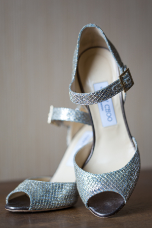 Jimmy Choo Silver Shoes