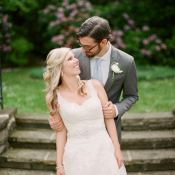 Lace Bridal Gown With Rhinestone Belt
