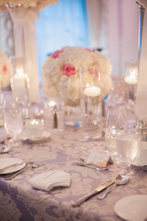 Lavender and Cream Reception Table Linens