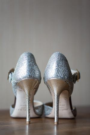 Metallic Jimmy Choo Bridal Shoes