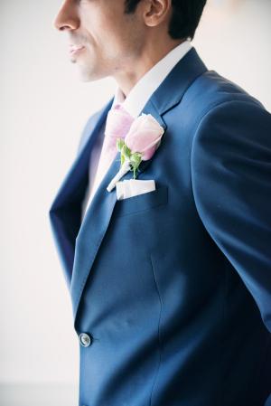 Navy Groom Suit