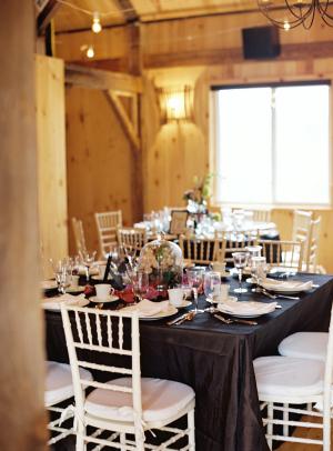 Navy and White Barn Wedding