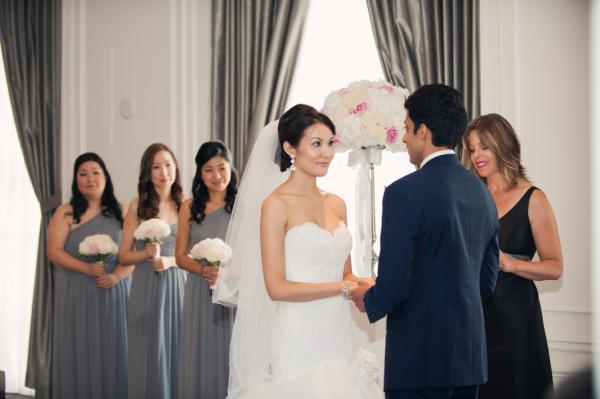 One Shoulder Gray Bridesmaids Dresses