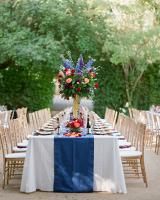 Outdoor Reception Tables at Vineyard