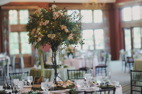 Oversize Tree and Rose Centerpiece