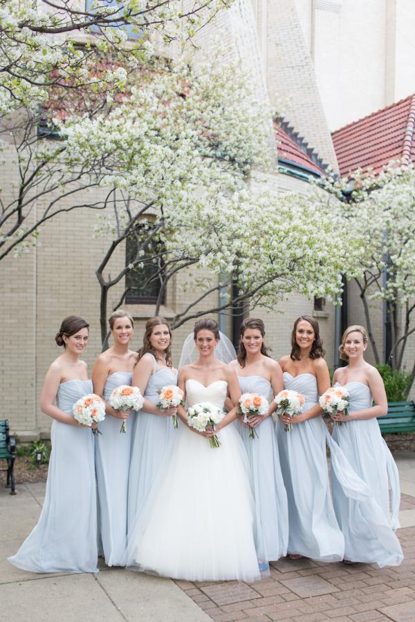 Pale Blue Bridesmaid Dresses - Elizabeth Anne Designs: The Wedding Blog