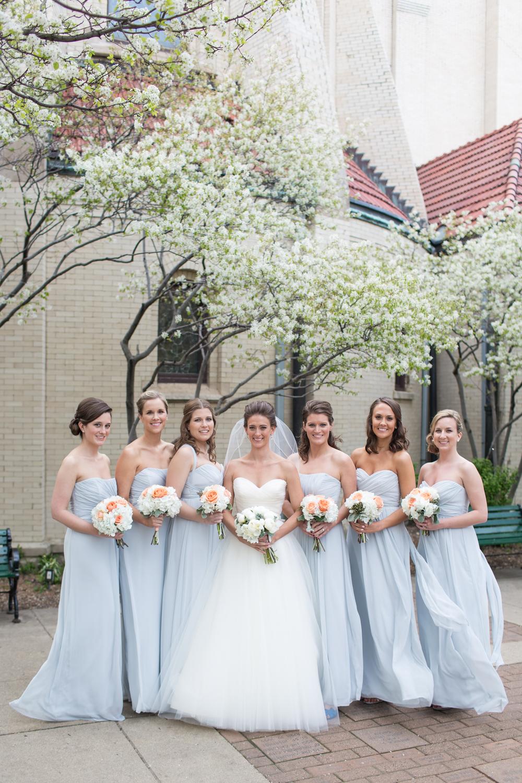 Pale Blue Bridesmaid Dresses Elizabeth Anne Designs The