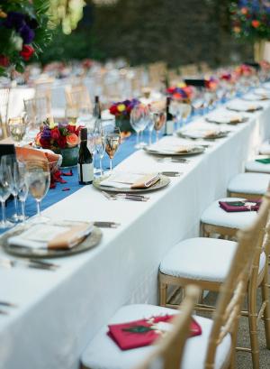 Pashmina Wedding Favors on Chairs