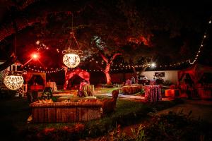 Persian Style Decor at Backyard Reception