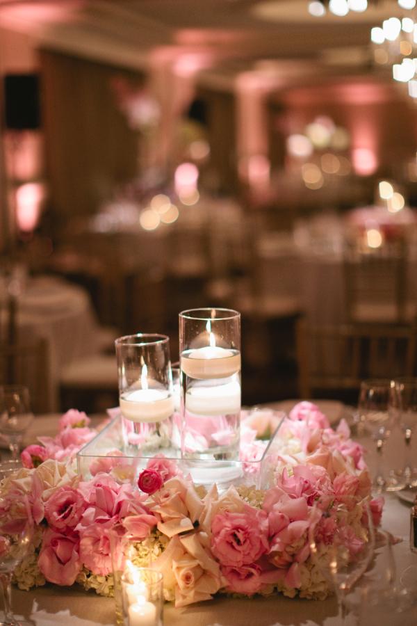 Pink Floral Wreath Centerpiece