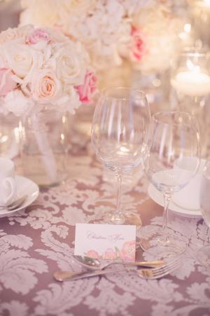 Pink Lavender and Cream Reception Decor