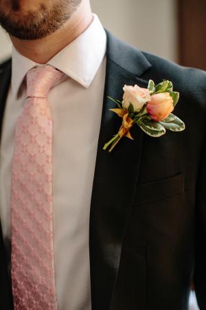 Pink Tie on Groom