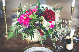 Pink and Blue Centerpiece