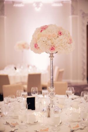 Pink and Cream Reception Decor