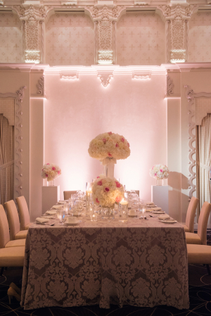 Pink and Cream Reception Decor Ideas