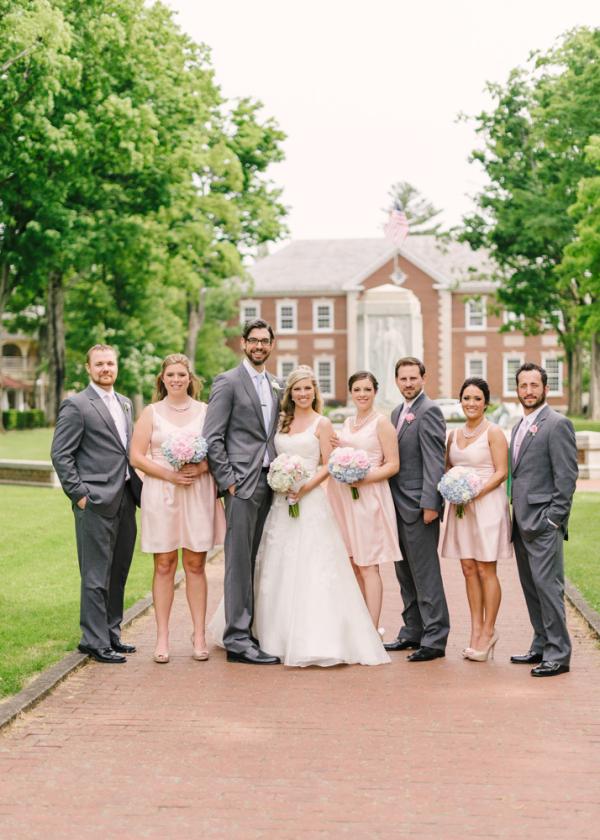 Pink and Gray Wedding Party - Elizabeth Anne Designs: The Wedding Blog