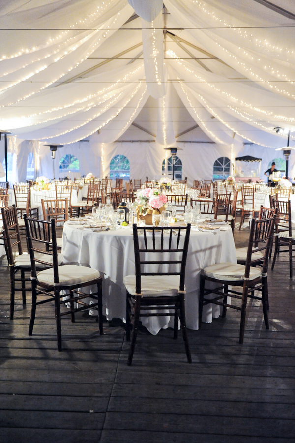 Pretty tent wedding reception elizabeth anne designs for Design your wedding reception