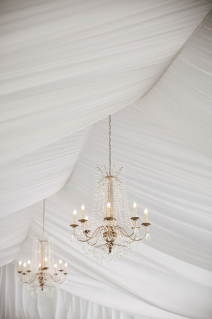 Reception Tent With Chandeliers