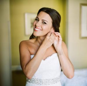 Rhinestone Sash on Bridal gown