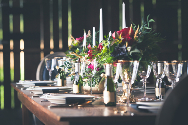 Rustic Elegant Barn Reception Decor